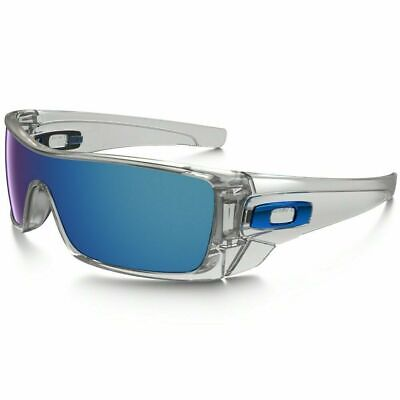 Oakley BATWOLF Sunglasses OO9101-07 Polished Clear Frame W/ Ice Iridium Lens