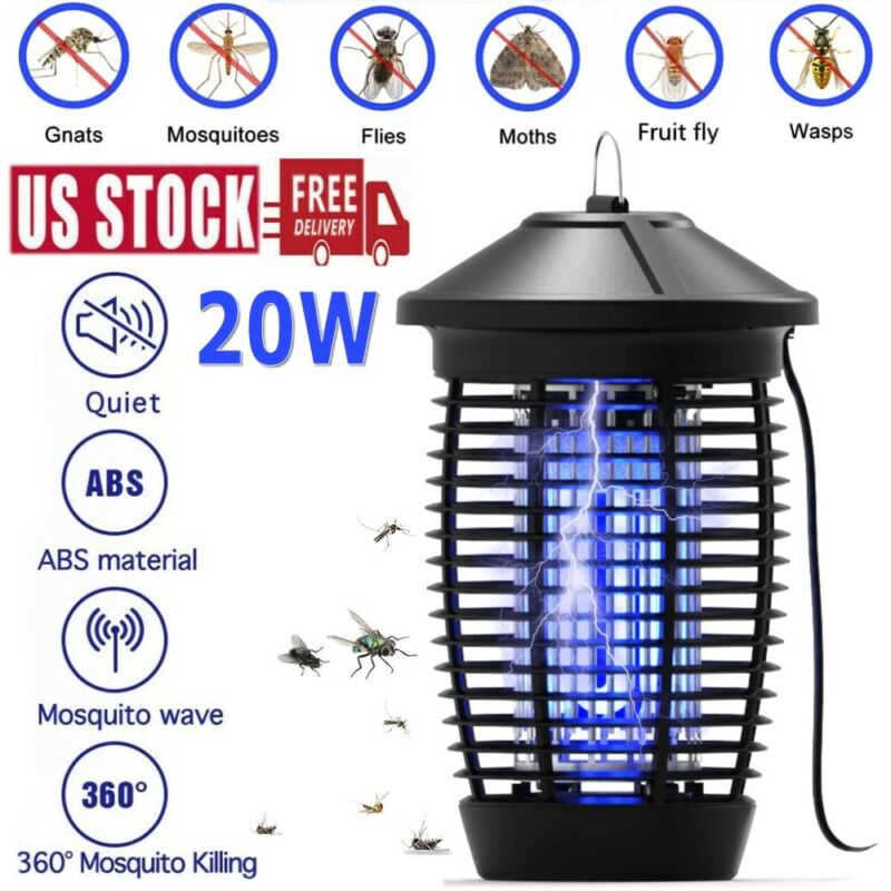 Electric UV Mosquito Killer Lamp Fly Bug Insect Repellent Zapper Trap Outdoor