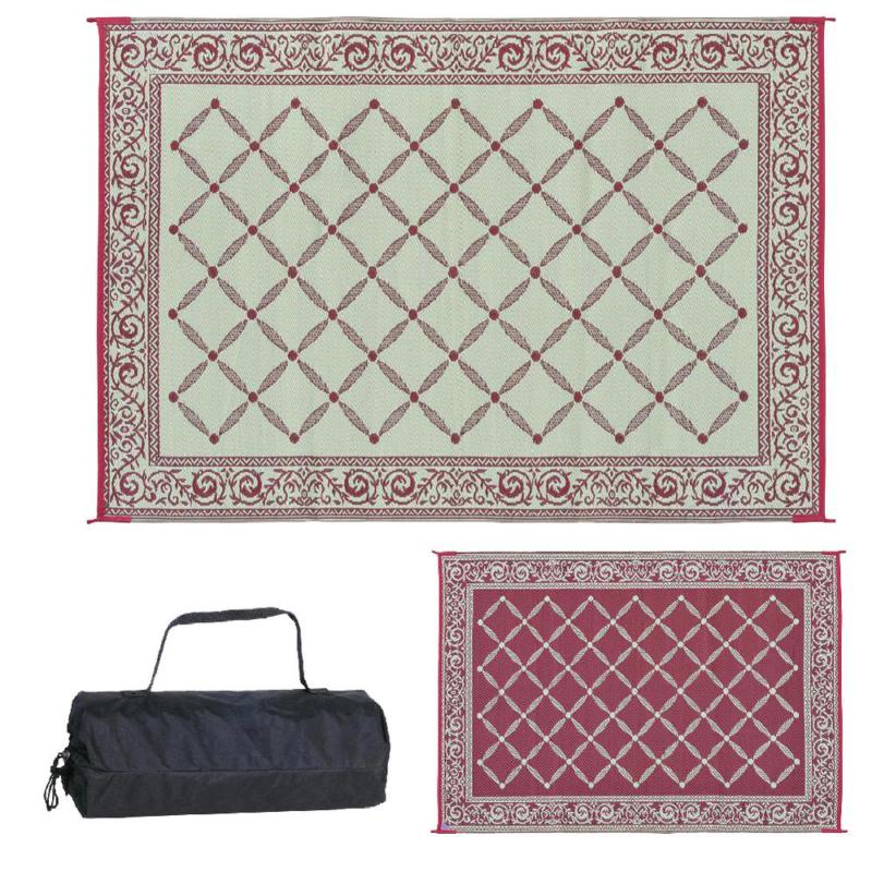 6ft x 9ft Reversible Mats Rv Patio Picnic Carpet Deck Camper