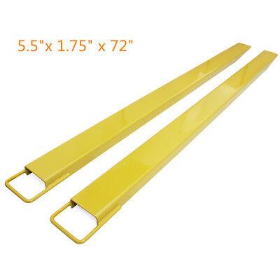 72 Steel Pallet Fork Extensions Forklifts Lift Truck Slide 5.5x 1.75 X 72