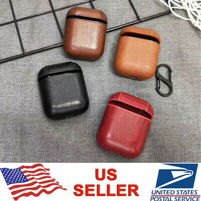 AirPods Leather Shockproof Protective Skin Cover For Apple Airpod Charging Case - Leather Skin Cover