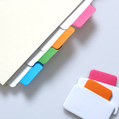 New Write-on Removable Index Tab Sticker Memo Sticky Note Notepad School Office
