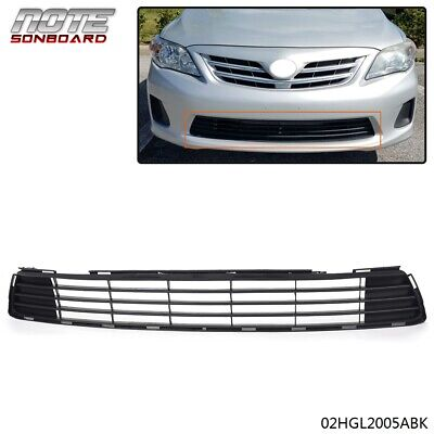 For 2011-2013 Toyota Corolla Replacement Front Bumper Lower Grille Grill Black