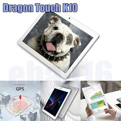 "Dragon Touch K10 10.1"" Quad Core Android 8.1 HD Tablet 16GB 800x1280 Refurbished"