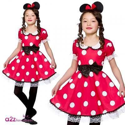 Nette Maus Mädchen-Kind-Mädchen Kostüm Minnie Mickey