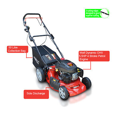 "Frisky Fox 20""  Self Propelled 5.5HP 4 stroke 4 in 1 Petrol Lawn Mower"