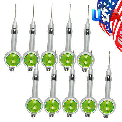 10x Usa Dental Air Flow Teeth Polishing Polisher Handpiece Prophy Jet 2 Holes Ce