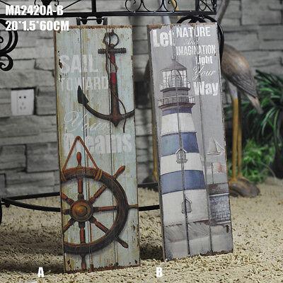 Quotes Wooden Anchor Plaque Nautical Decor Beach Coast Seaside Theme Bathroom #A