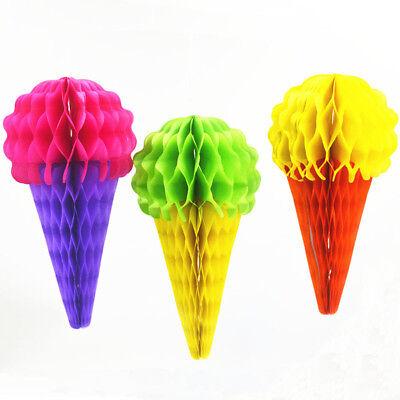Tissue Paper Honeycomb Ball Lanterns Ice Cream Birthday Party Decorations - Tissue Paper Decorations