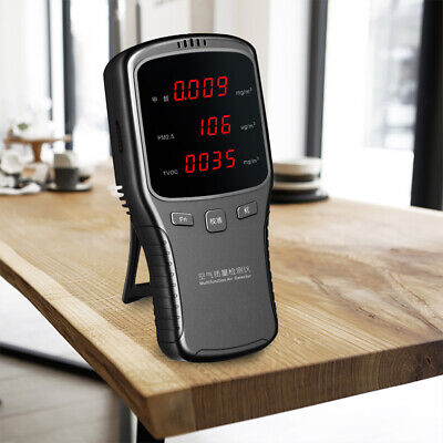 Digital Air Quality Gas Detector PM1/2.5/10 Air Quality Tester Monitor Meter TOP ()