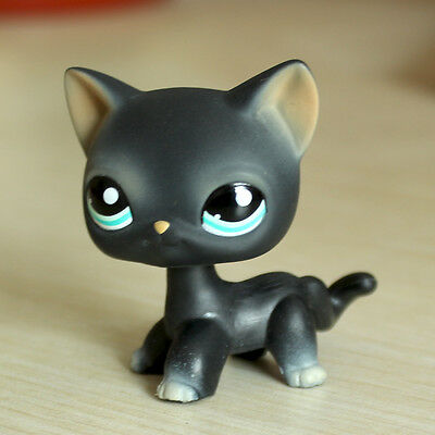 LPS #994 Littlest Pet Shop LPS Collection Figure Toy Short Hair Cat Black Kitty](Black Kitty)