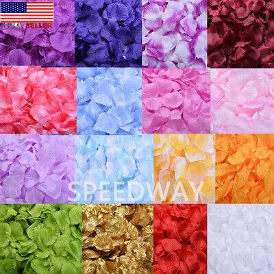 Silk Rose Petals (1000pcs Silk Rose Petals Artificial Flower Petal Wedding Party Table)