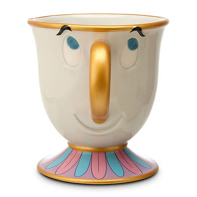 Disney Parks Beauty And The Beast Chip Cup Ceramic Mug Nwt