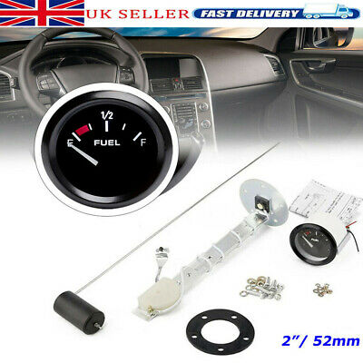 2'' 52mm Universal Car Motorcycle Display Fuel Lever Meter Gauge Transmitter Kit