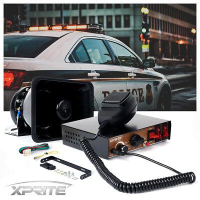 Xprite 200W 8 Sound Loud Car Warning Alarm Police Fire Siren Horn PA Speaker MIC