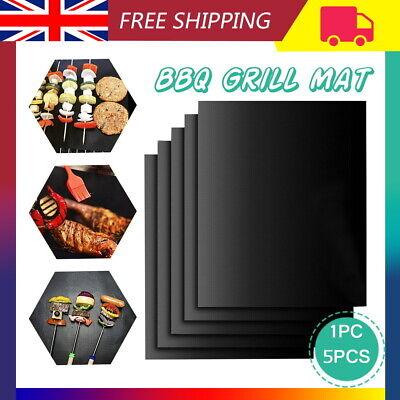 Reusable BBQ Grill Mat Non-Stick Baking Sheet Pad Oven Liners Teflon Fiber UK