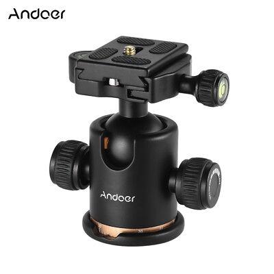 Andoer Kamera Stativ Kugelkopf mit Schnellwechselplatte 1/4 Schraube