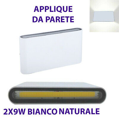Aplique Pared Doble Bombilla LED Mazorca 9W Foco Exterior Blanco Natural 4000K