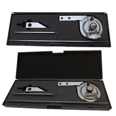 Universal Bevel Protractor W Magnifier 360 Degree Blades Fine Adjustment