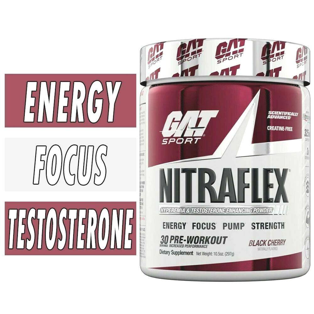 GAT Sport NITRAFLEX Test Boosting Pre-Workout Energy 30 Servings PICK FLAVOR