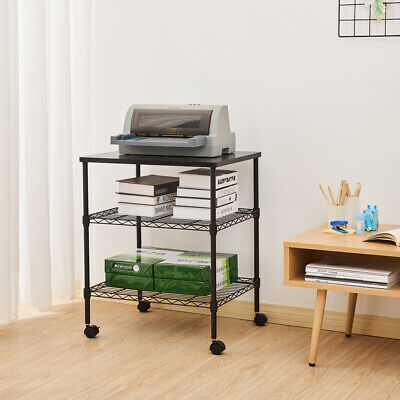 3-shelf Printer Mobile Shelf Cart Office Home Stand Storage Work Rack Shelf New