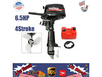 4Stroke 6.5HP Outboard Motor Fishing Boat Engine Water-Cooling CDI System 123CC