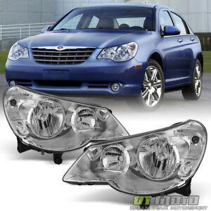 2007-2010 Chrysler Sebring 4Dr Sedan Headlights Headlamps 07-10 Left+Right Pair