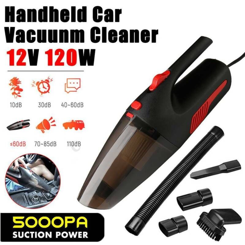 Car Vacuum Cleaner 12V With 120W For Auto Mini Portable Wet