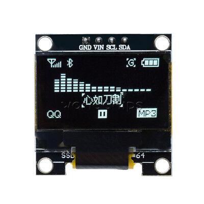 0.96 White I2c Iic Spi Serial 128x64 Oled Lcd Led Display Module For Arduino