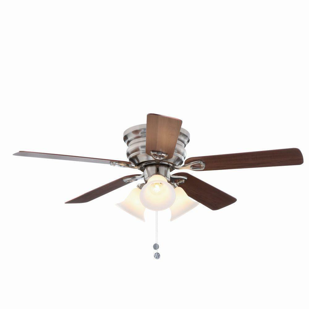 Indoor/Outdoor Lighting Brushed Nickel Mounting Ceiling Fan