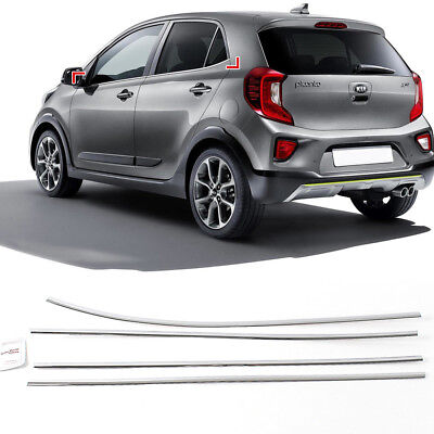 Chrome Window Under Line Sill Molding Garnish Trim For KIA 2018 Picanto (Under Window Trim)