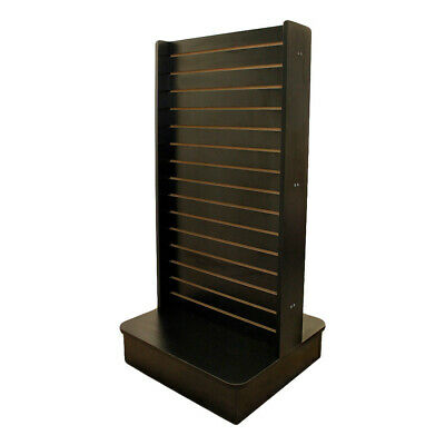 "25""x25""x54"" Black Display Tower 2 Sided Slatwall Floor Knockdown Displays Retail"