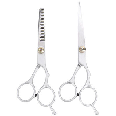 2pcs Cortar pelo profesional tijeras de reducción Tijeras del peluquero peluquer