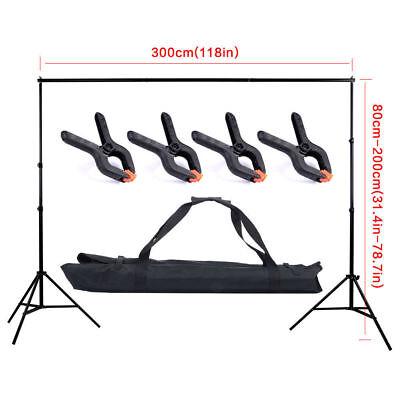 10Ft Adjustable Backdrop Crossbar PhotographyBackground Support Stand Studio Kit