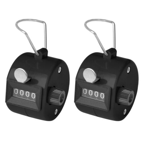 2PCS ABS Tally Counters, 4-Digit Counter Clicker for Sport Stadium Coach Event