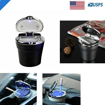 Car Auto LED Light Up Ashtray Holder Smokeless Ash Cigarette Cylinder - Led Light Up Cups
