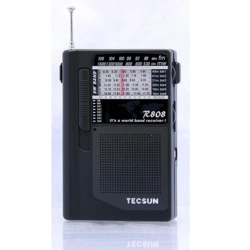 Tecsun World Radio R-808 FM/MW/SW Full Band Mini Radio Portable Size s494