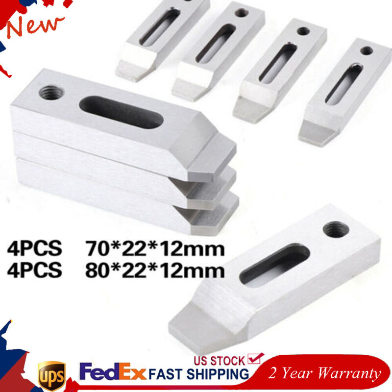 4pcs Wire EDM Fixture Stainless Board Jig Tool For Clamping 70mm / 80mm M8 Screw