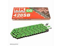 New RK Heavy Duty Trick Neon Green Chain KTM 85 YZ RM 80 85 428x120 Links