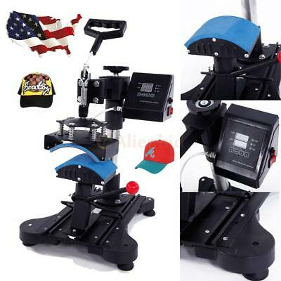 Digital Transfer Cap Hat Heat Press Machine 6x3 Heating Diy Print Transferring