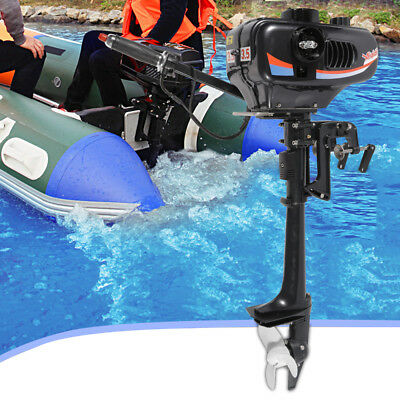 Outboard Engine Boat Motor 2 Stroke 3.5 HP Electric Fishing  CDI Water Cooling