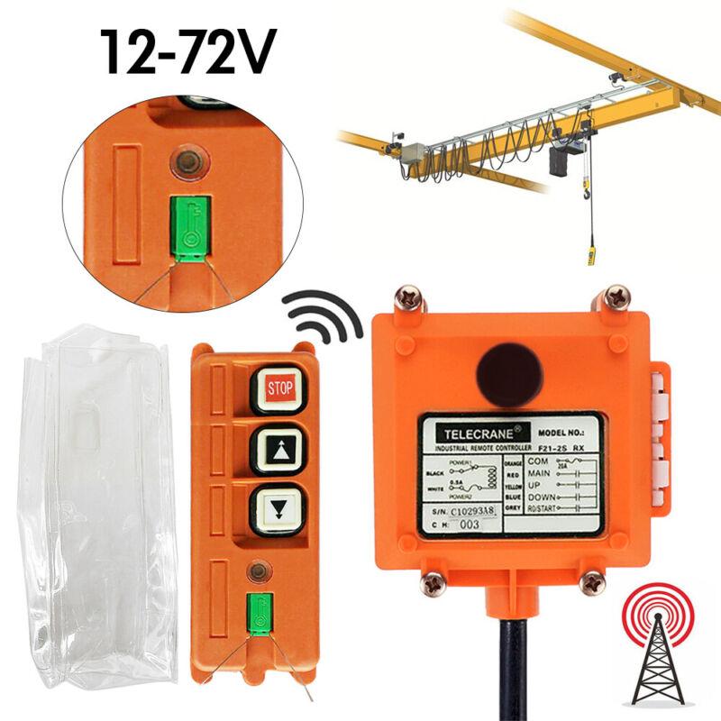 PA 2X Transmitter Receiver Hoist Crane Radio Wireless Industrial Remote Control