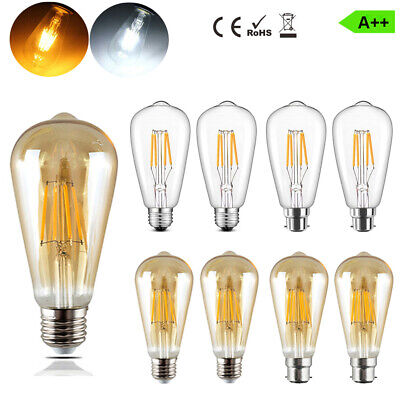 Vintage Filament LED Edison Light Bulb E27 B22 Decorative Industrial 4/6/8w