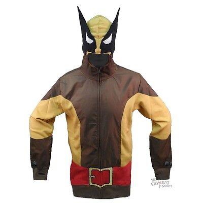Wolverine Classic Costume X-Men Brown Wolf Marvel Comics Hoodie - Marvel Beast Costume