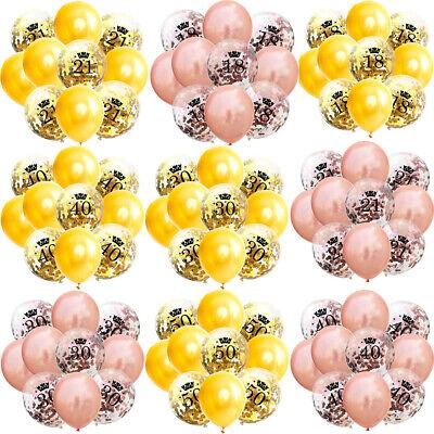 10x Happy Birthday Confetti Balloons 18/21st/30/40/50/60/70/80/90th Party Decor](90th Birthday Balloons)