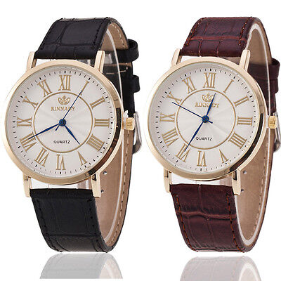 Vintage Stainless Steel Men's Watch Contracted Leather Quartz Man Watches Gift