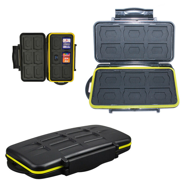 Memory Card Case Holder Storage Fits 12 SD+12 Micro SD TF Cards Well Waterproof