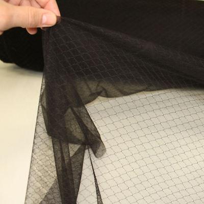 Schwarzer Netzstoff Deko Dessous sehr leichte und elastische Meterware von - Dessous Und Kostüm