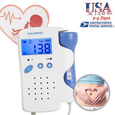 2018 New Ultrasound Fetal Doppler 3mhz Lcd Heart Rate Baby Sound Gel