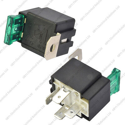 12V 4 Pin 30A Fused Relay With Bracket 12 Volt Normally Open On/Off Automotive